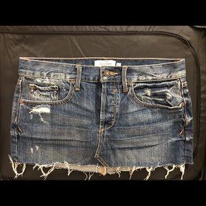 Abercrombie mini denim skirt size 0